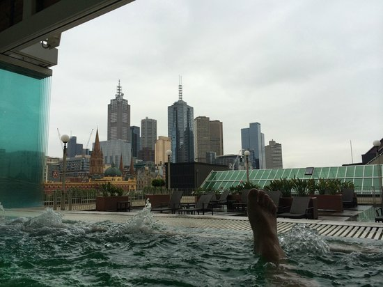 The Langham, Melbourne: View from Spa (amazing!)