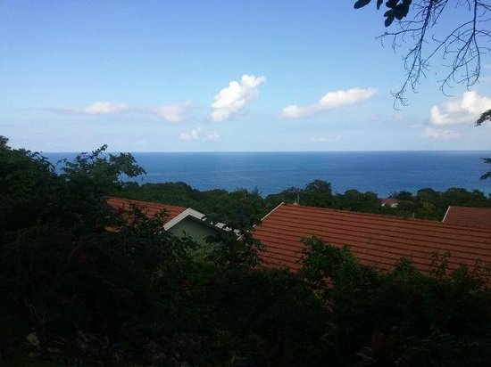 Sandals Ochi Beach Resort: View from top of Hill on Manor Side