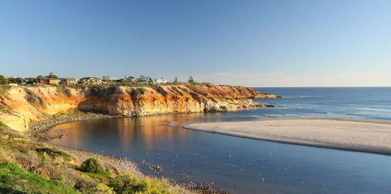 Port Noarlunga Australia  City new picture : Port Noarlunga, Australia: River Mouth