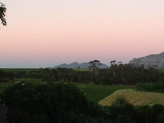 In the Vine Manor House: Nothing beats a great view like this when the sun is going down :)