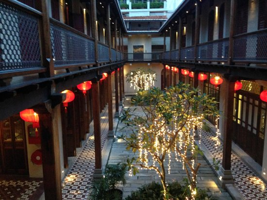 The internal courtyard decorated for a wedding picture for 7 terrace penang