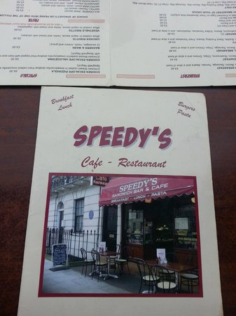Speedy S Sandwich Bar Cafe Menu