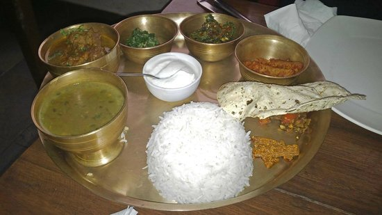 Nepali Thali With Chicken Picture Of Yeti The Himalayan Kitchen New Delhi Tripadvisor
