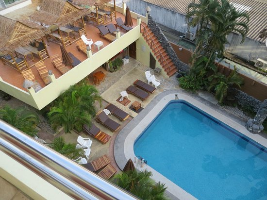 Sabai Mansion: View from Balcony, room 27