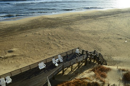 Comfort Inn South Oceanfront: View from Hotel Room: Deck