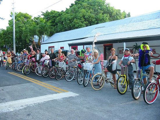 Eaton Street Bikes Key West Eaton Bikes In costume for