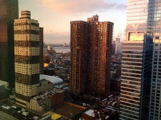 view from my room on 31st floor at staybridge suites times. Black Bedroom Furniture Sets. Home Design Ideas