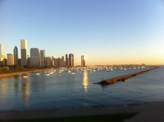 InterContinental Chicago: View back to the city on a morning run...