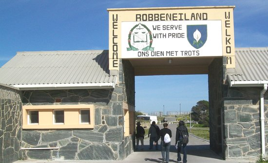 Table Mountain From Robben Island Prison Yard  Picture Of Trek Direct Privat