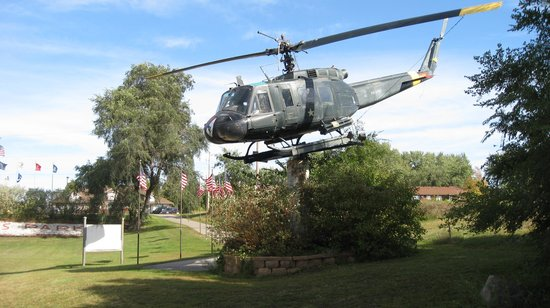 """Belle Plaine Veterans Memorial Park: UH-1H """"Huey"""" US Army Iroquois Helicopter"""
