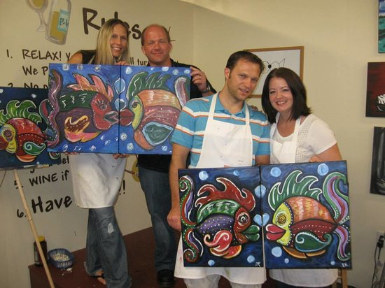 Having some fun picture of painting with a twist for Painting with a twist chicago