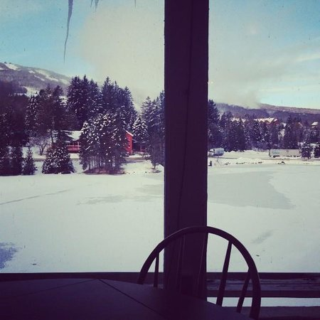 Snow Lake Lodge: view from a dining area