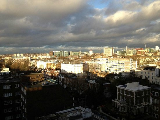 View of north london from the top floor for Thistle kensington gardens hotel