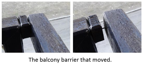 301 moved permanently for Balcony barrier
