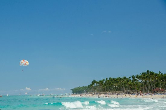 Paradisus Punta Cana: View from the beach.