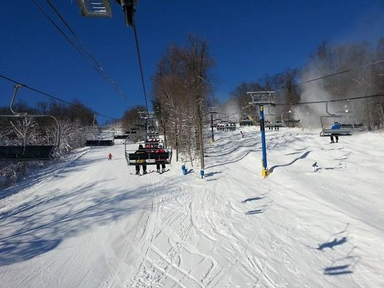 Liberty Mountain Resort: back side slopes