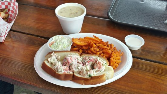 The Lobster Roll with Stone Crab Chowder. Both were unbelievably good ...