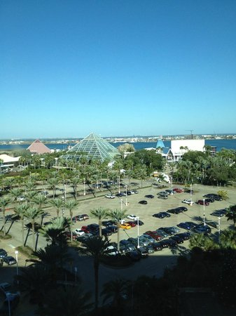 view of the entrance to moody gardens from the room