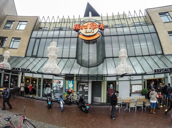 fachada do hard rock caf amsterdam picture of hard rock cafe amsterdam tripadvisor. Black Bedroom Furniture Sets. Home Design Ideas