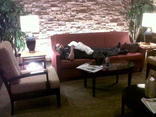 Cambria Hotel & Suites: Asleep on the j-o-b. FIRED for threatening to MURDER HER BOSS! They KNOW its true too!