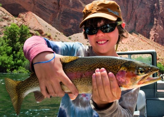 Fishing directly below horseshoe bend on the colorado for Lees ferry fishing report