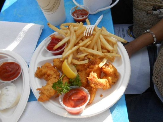 Fish chips picture of harbor fish cafe carlsbad for Fish restaurant carlsbad