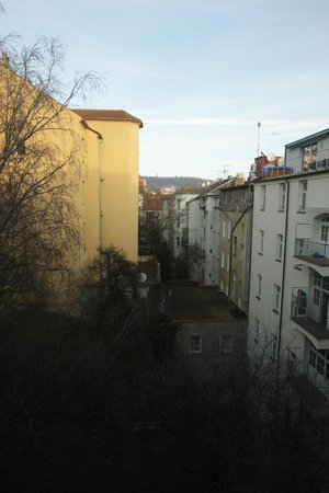 Barcelo Praha Five: The view from our room. Not great but it was quiet and we did not book it for the views.