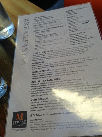 M Street Kitchen Breakfast Menu Picture Of M Street Kitchen Santa Monica Tripadvisor