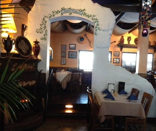 Interior view picture of greek village taverna for Table 52 schaumburg