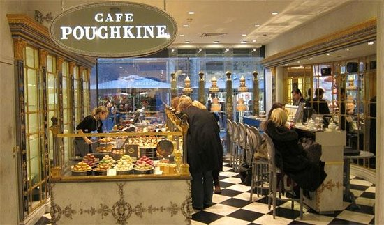 caf pouchkine before the crowds picture of cafe pouchkine paris tripadvisor. Black Bedroom Furniture Sets. Home Design Ideas