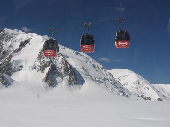 chamonix mont blanc cable car   picture of telecabine