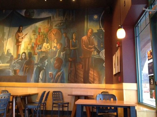 large picture at Starbucks