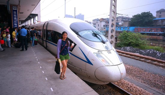 me and the high-speed railway - hexie hao (和谐号