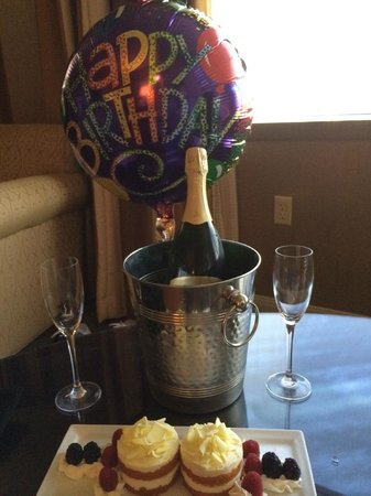 """Omni Jacksonville Hotel: Omni Jax """"Loyalty Ambassador"""" Brad has this waiting in our room for wife's birthday."""