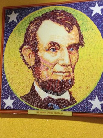 Jelly Belly Factory Tour: One of many pieces of Jelly Bean art. - jelly-belly-factory-tour