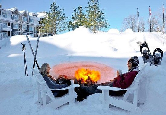 Winter Fire Pit Picture Of Jw Marriott The Rosseau