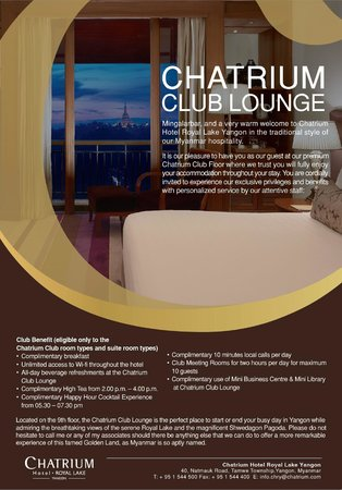 Chatrium club lounge benefit flyer photo de chatrium for Club piscine flyer