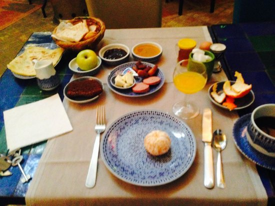 Riad Les Lauriers Blancs: Breakfast