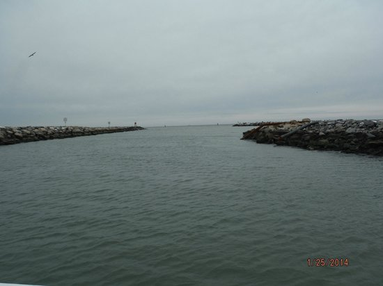 Leaving the marina area and into the atlantic picture of for Va beach fishing center