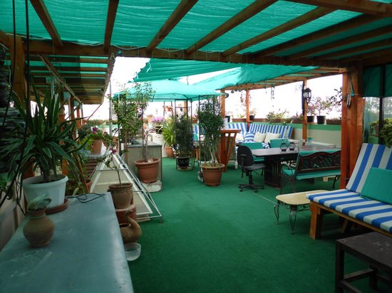 Nomad Guest House: one half of rooftop