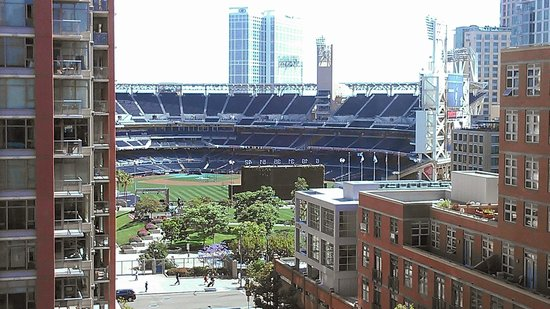 view of ballpark from rooftop bar picture of hotel. Black Bedroom Furniture Sets. Home Design Ideas