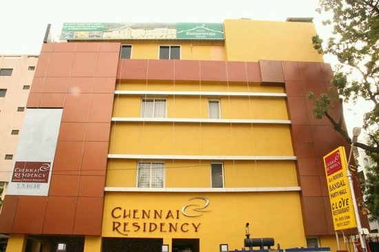 Front Elevation Tiles Chennai : Front elevation picture of chennai residency serviced