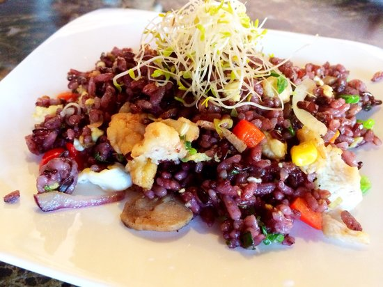 Purple fried rice picture of fond of fusion cuisine for Australian fusion cuisine