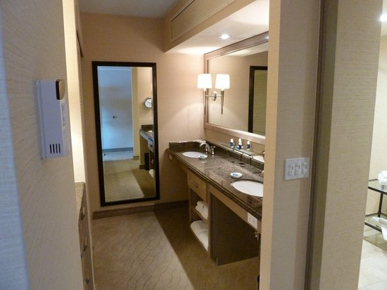 The Coeur d'Alene Resort: The vanity/dressing area