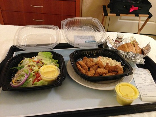 Delicious Room Service From Longhorn Steakhouse Next Door Picture Of Hilton Garden Inn