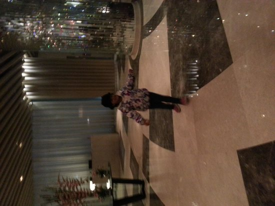 WelcomHotel Dwarka: my daughter at the lobby