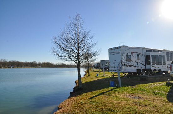 Nearly all sites back up to fishing ponds picture of for Louisiana fishing camps