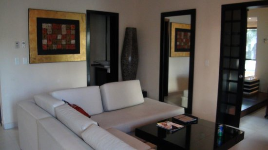 One Bedroom Suite Sitting Area 1 2 Bath Picture Of Azul Fives Hotel By Karisma Playa Del