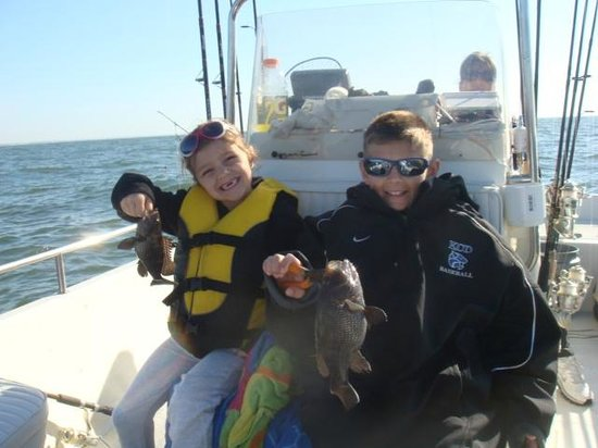 Brother and sister for Reel action fishing charters