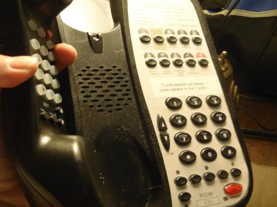 The Fairmont Banff Springs: Another minor deficiency- dirty telephone. To be fair, I did not report it to the hotel at the t